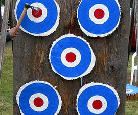 Portable AKTA style target for knife and tomahawk throwing