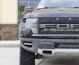 Install 100W CREE LED Lightbar Foglamps for Ford Raptor