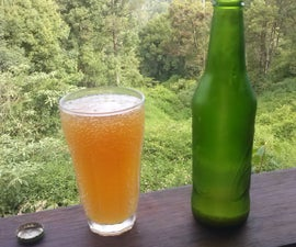 Refreshing Alcoholic Ginger Beer with Orange