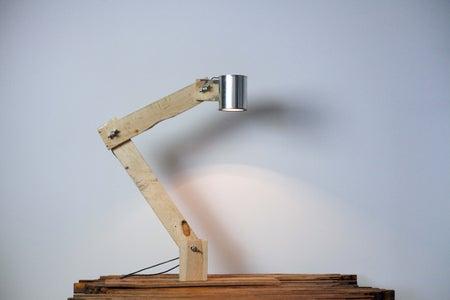 Pallet Wood Lamp