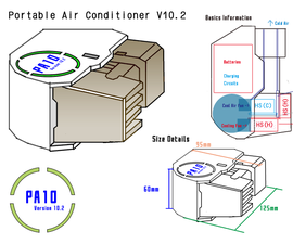 Battery Powered Peltier Portable Air Conditioner