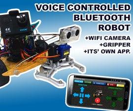 Voice Controlled Arduino Robot + Wifi Camera + Gripper + APP & Manual Usage & Obstacle Avoiding Mode (KureBas Ver 2.0)
