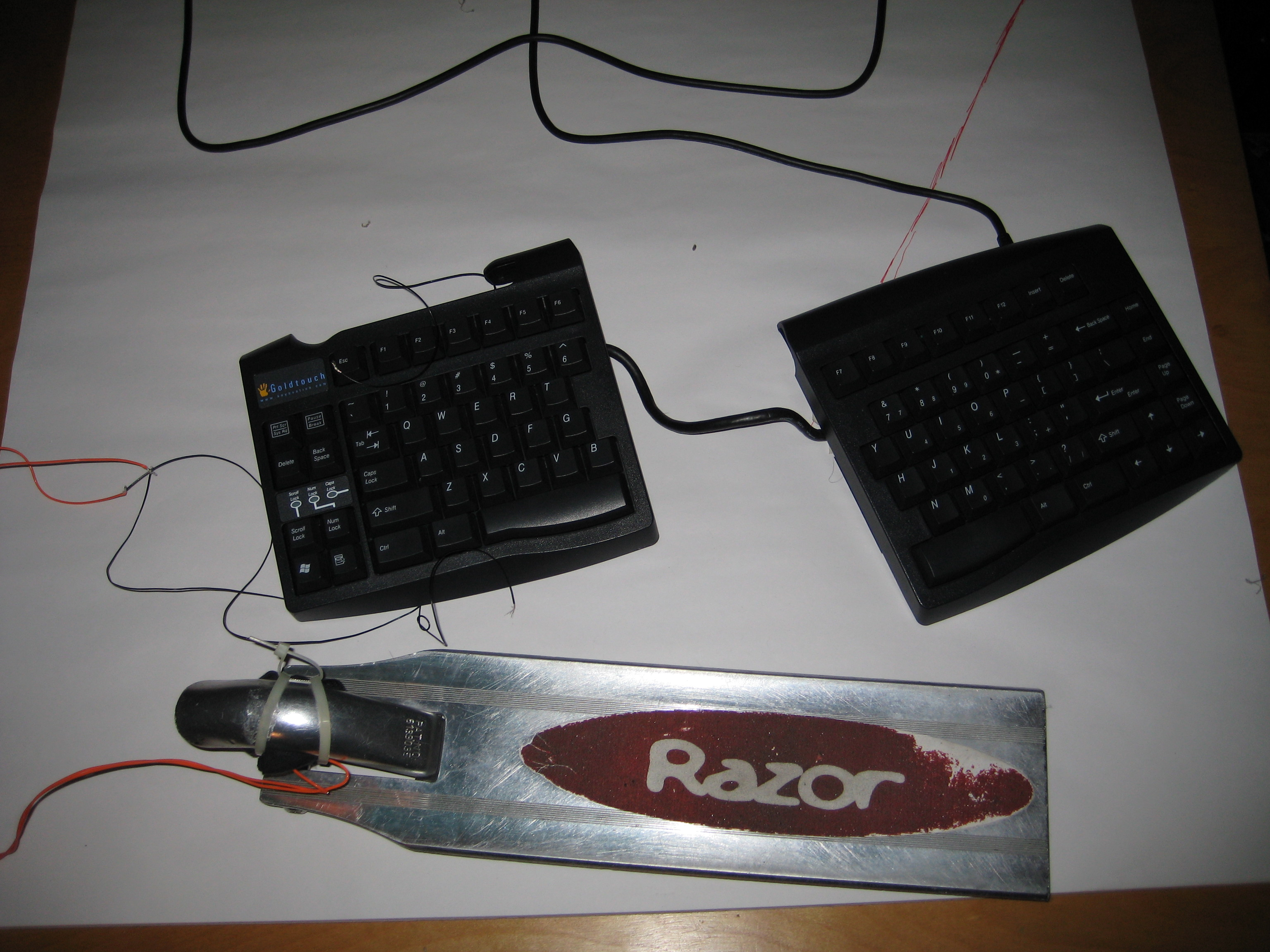 Picture of Add Foot Pedals or Ergonomic Buttons to Your Computer Keyboard