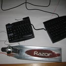 Add foot pedals or ergonomic buttons to your computer keyboard