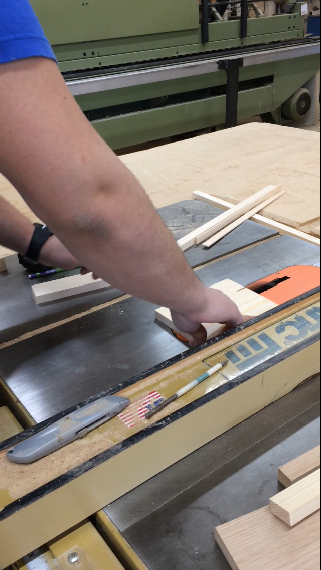 Picture of Step 2: Measure and Cut Using a Table Saw