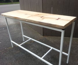 Bar With Floating Live Edge Top