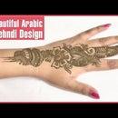 Beautiful Arabic Mehndi Design For Henna Lovers