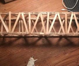 Warren Truss Popsicle Stick Bridge
