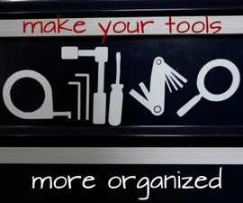 Tool chest organization with vinyl decals