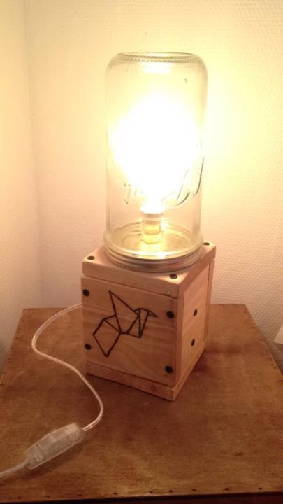 Picture of Mason Jar Edison Lamp