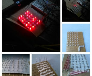 DIY 5x7 LED Matrix Board