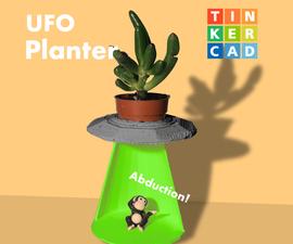 Tinkercad UFO Abduction Planter!