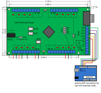 Connect Arduino to 16X PWM Led Fader