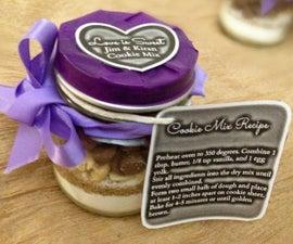 DIY Mason Jar Cookie Mix Wedding Favor