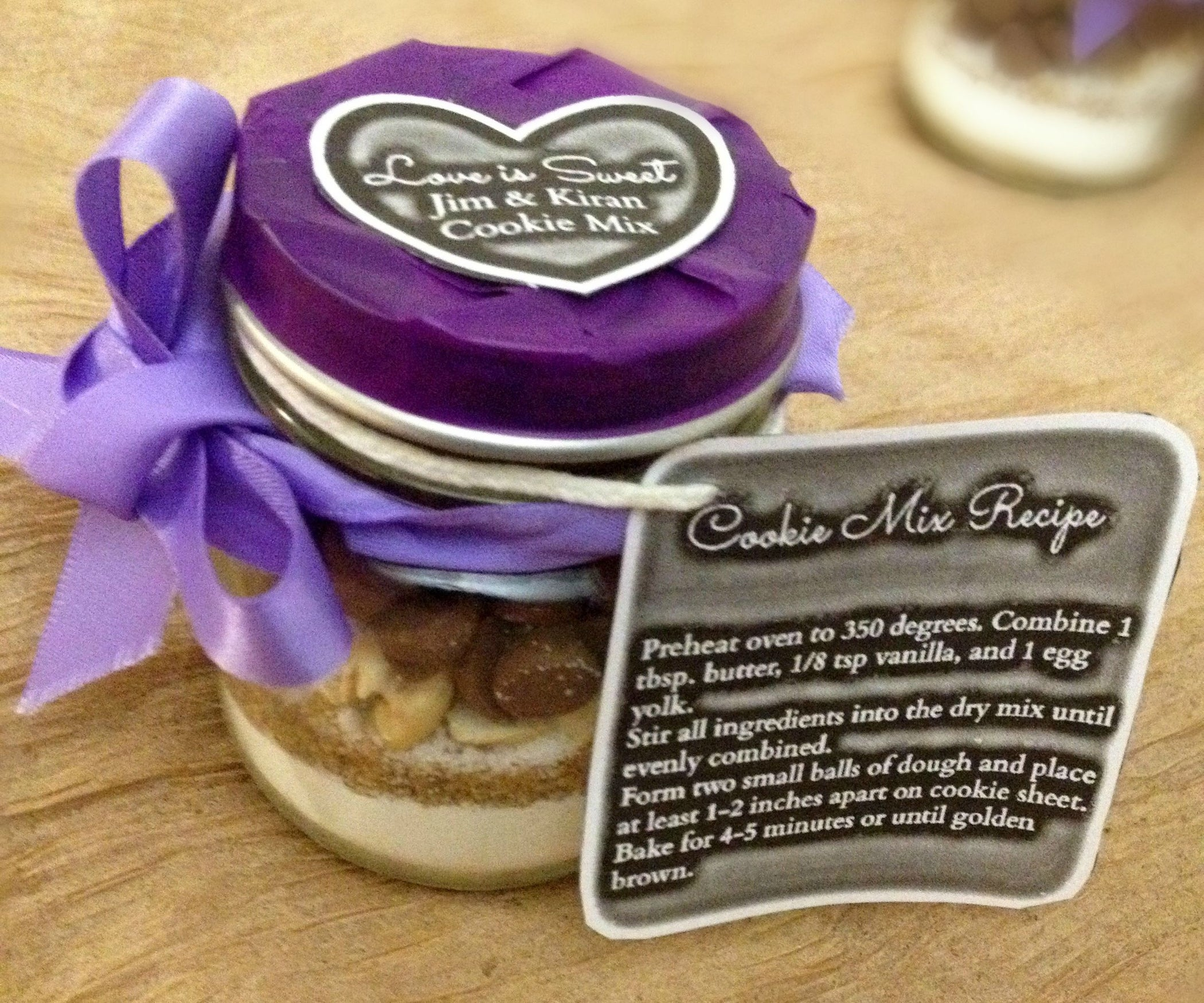 Diy Mason Jar Cookie Mix Wedding Favor 6 Steps With Pictures