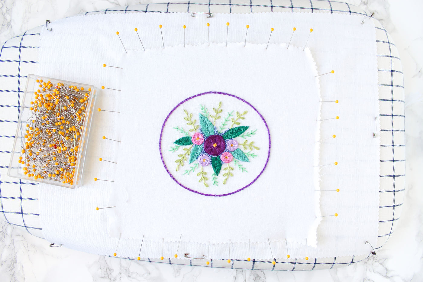 Blocking Embroidery