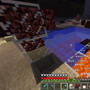 Heated pool in Minecraft