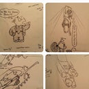 How to Sketch Simple Cartoon / Comic Characters