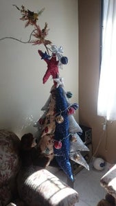 Christmas Tree With Fabric Scraps