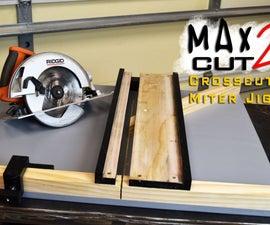 MAX CUT 2 Circular Saw Crosscut & Miter Jig
