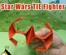 How to Fold an Origami Star Wars TIE Fighter - Origami BEST #origami