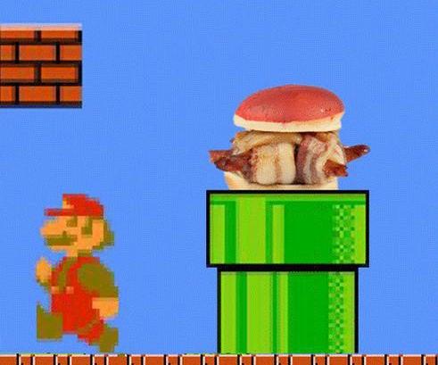 Koopa Troopa Bacon Turtle Burgers