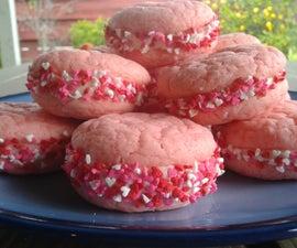 Valentine Cake Cookies