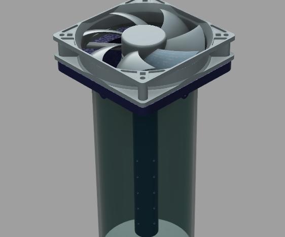 3D Printed Simple Desk Aircooler