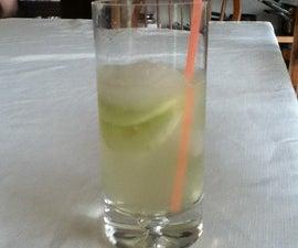 Yummy Non Alcoholic Cucumber Cocktail In A Mason Jar