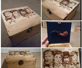Easy Build Pipe Box WITH MUSIC + PYROGRAPHY