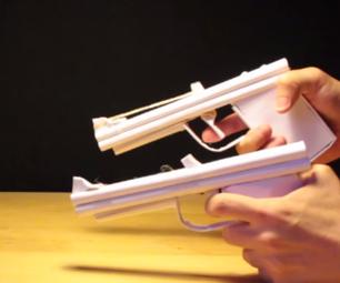 Paper Gun That Shoots Rubber Bands