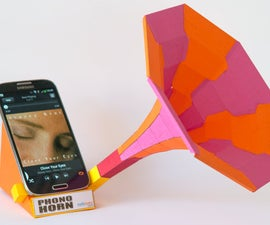 Phono Horn. Free Sound Dock for your Smart Phone to Download and Make.