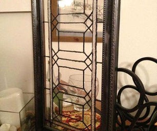 DIY Faux Leaded Stained Glass Wall Hanging