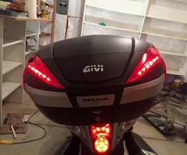 DIY Givi V56 Motorcycle Topbox Light Kit With Integrated Signals