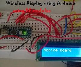 Wireless Notice Board System using Arduino