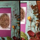 Antique Frame With Dried Flowers