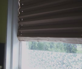 folded cardboard window blind