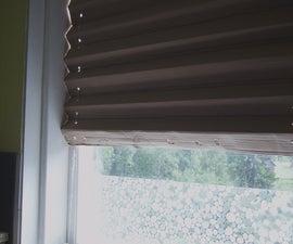folded cardboard window blind