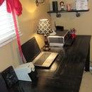 Custom Office Desk From Reclaimed Wood