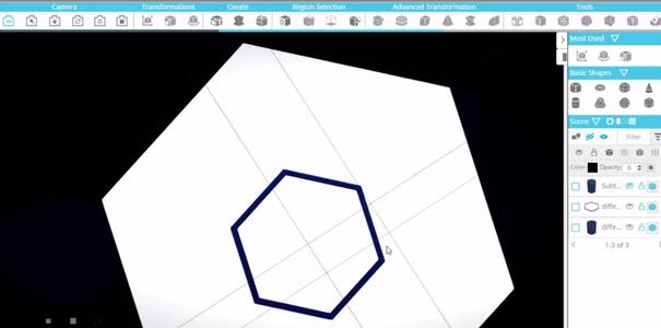 Creating the Hexagon Shaped Net