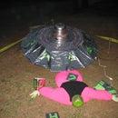 Make a Halloween UFO from Cardboard