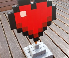 MineCraft Heart (wood)