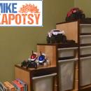 Furniture Hack-Old Mahogany Headboard repurposed into IKEA-Style Toy Storage