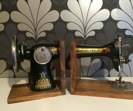 Bookends With an Old Sewing Machine!!