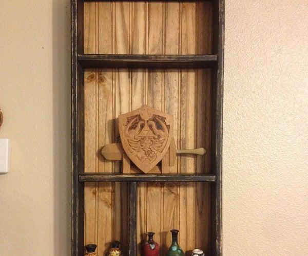 Vintage Style Distressed Display Shelf (easy Mode)