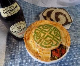 Painted Irish Meat Pie