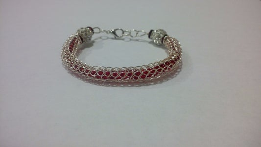 Beaded Viking Knit Bracelet Model 2