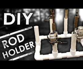 Easy DIY PVC Fishing Rod Holder & Organizer for Storage
