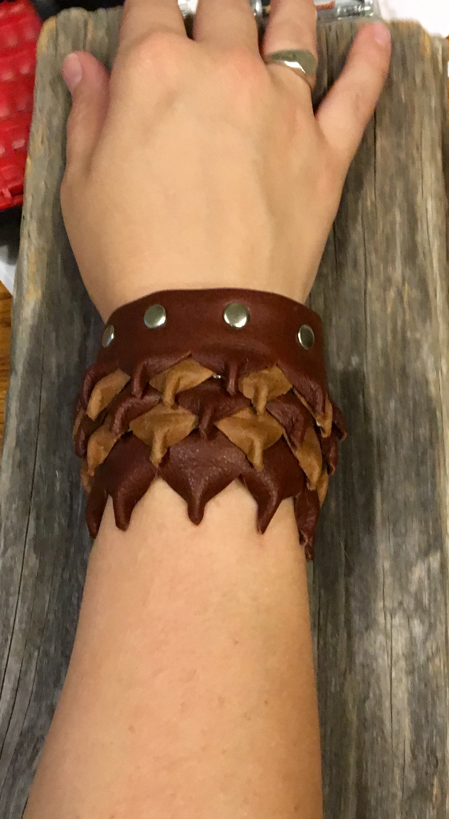 Picture of  Leather Mini Dragon Scale Bracelet