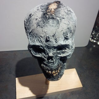 How to Corpse a Cheap Skull With Toilet Paper and Glue